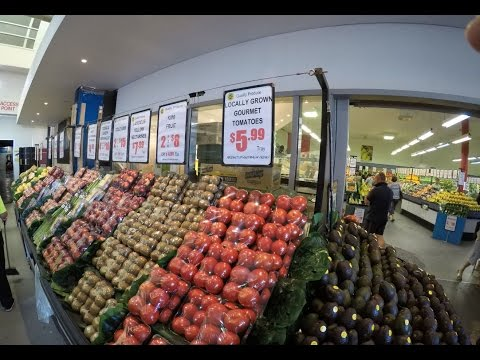 Fresh Produce Store at Sydney Fish Market - Go Pro Walkthrough