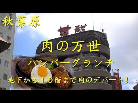 秋葉原【肉の万世】本店のハンバーグランチ Hamburger Steak of NIKU NO MANSEI in Akihabara.【飯動画】