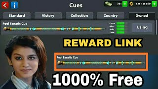 8 Ball Pool Get Free Fanatic Cue Free For Reward Link