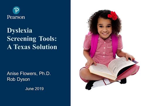 Dyslexia Screening Tools: A Texas Solution