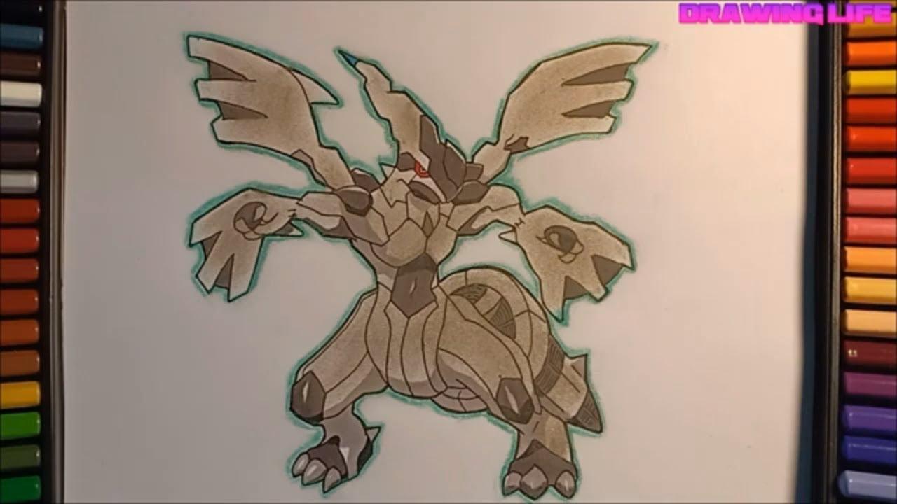 cách vẽ pokemon rồng điện huyền thoại zekrom-thế hệ 5