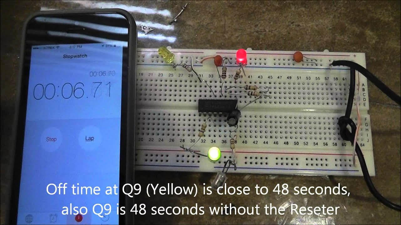 Power Off Timer Using 4060 On For A Period Another The 555 Monostable Circuit Electronics In Meccano