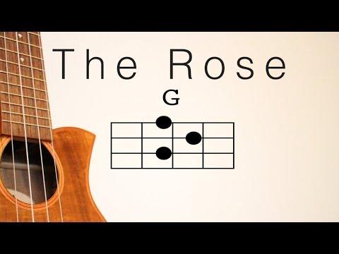 【ウクレレコード付き】the Rose - Bette Midler ukulele(with chord) / ローズ - ベット・ミドラー