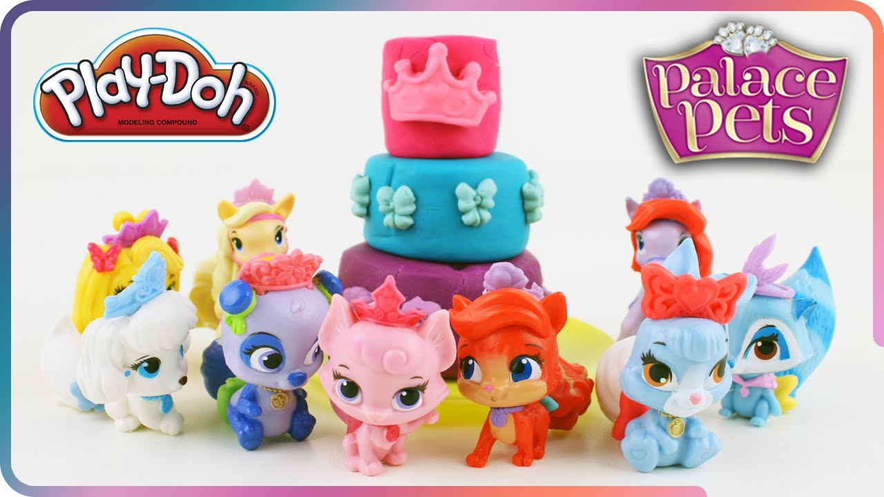 Disney Princess Palace Pets Birthday Cake Funny Playdoh Stop Motion For Kids