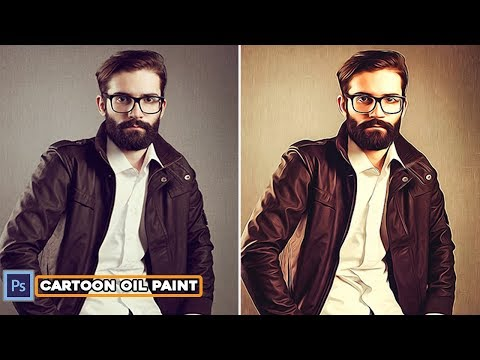 1 Minute Photoshop Tutorial|Create Photo To Cartoon Oil Painting Effect thumbnail