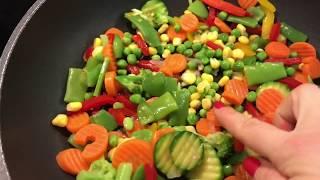 Рис с Овощами . Правильное питание . Как приготовить вкусно рис . Здоровое питание .