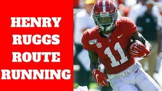 Henry Ruggs (Alabama WR) Route Running Breakdown