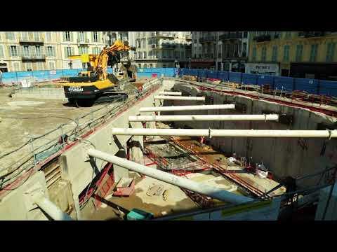 Poursuite de la réalisation de la station souterraine Durandy – juillet 2017