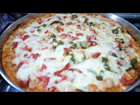 صورة  طريقة عمل البيتزا طريقه عمل البيتزا بالجمبري🍕🍕 طريقة عمل البيتزا من يوتيوب