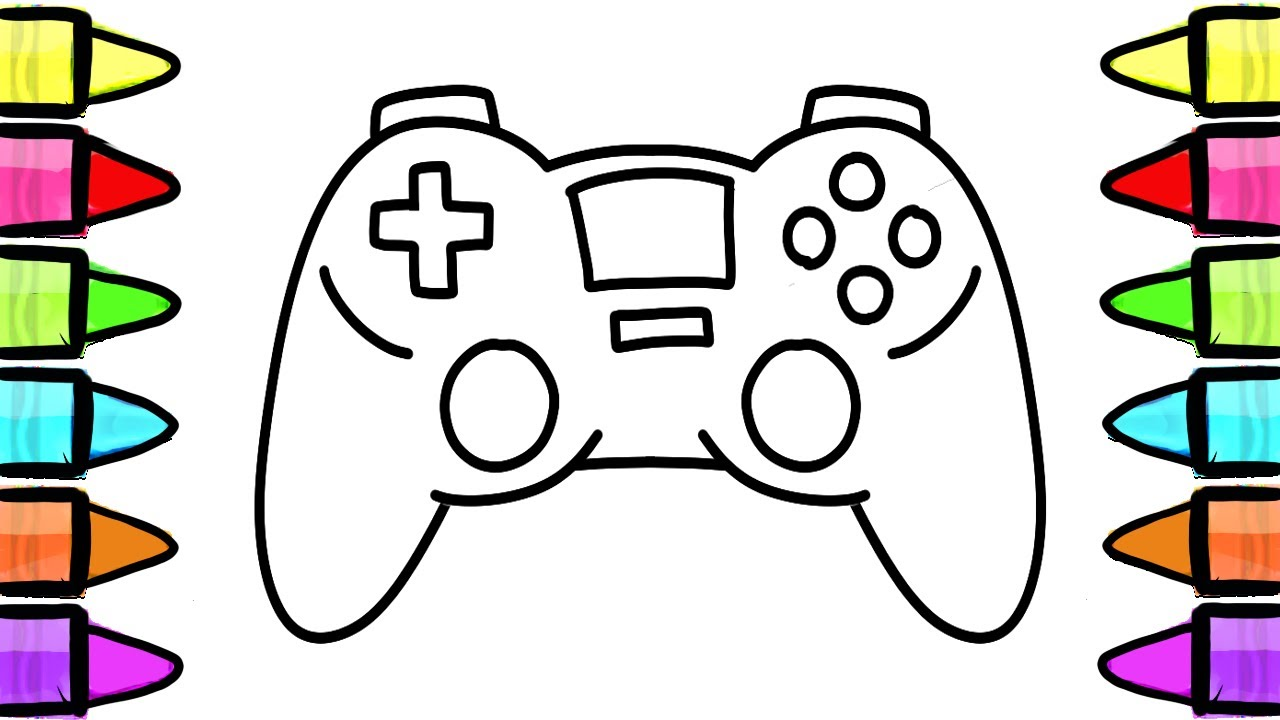 How to Draw Gamepad Console, Controller, Coloring Book for ...
