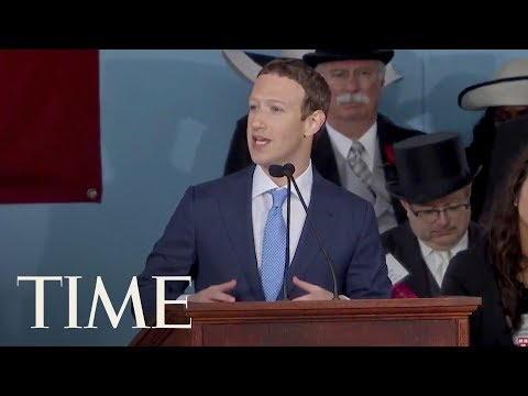 Facebook CEO Mark Zuckerberg Gives The 2017 Harvard Commence