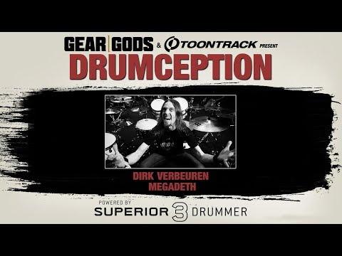 MEGADETH's Dirk Verbeuren Playthrough Of His Own DRUMCEPTION Song| GEAR GODS