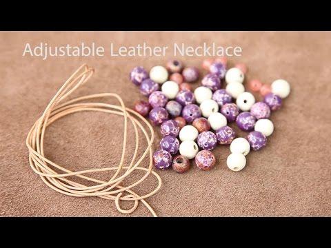 Easy Adjustable Necklace Tutorial