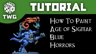 Games Workshop Tutorial: How To Paint Silver Tower Blue Horror