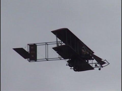2009 Vectren Dayton Airshow - 1911 Wright B Military Flyer Replica and UH-1 Huey