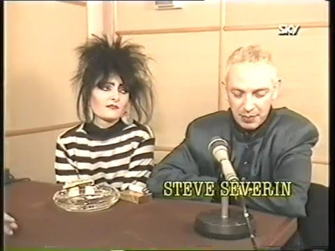 Siouxsie & The Banshees Wheels On Fire In The Studio + Interview Sky TV 01/87