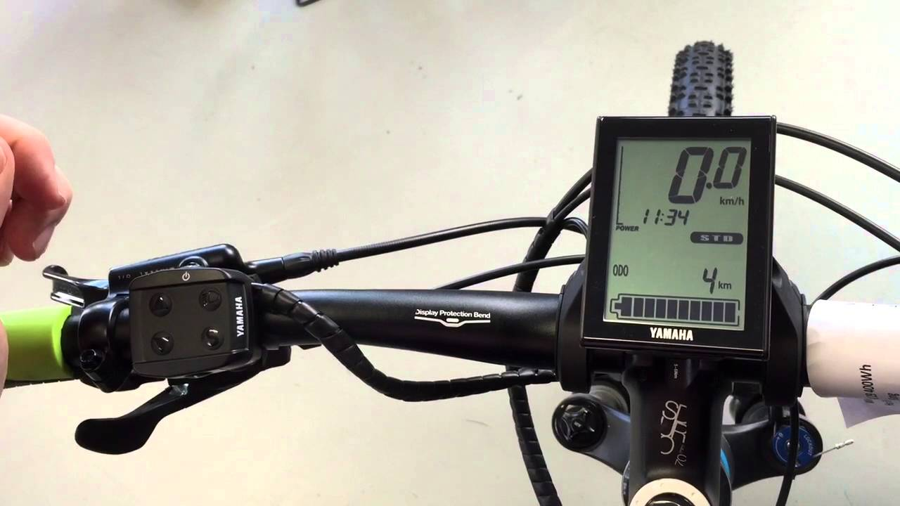 Yamaha E Bike Display Einstellen Youtube