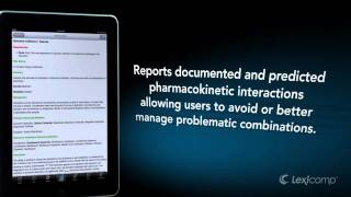 Overview of Lexicomp Mobile Products