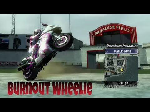 How To Do A Wheelie Burnout Combo - Burnout Paradise