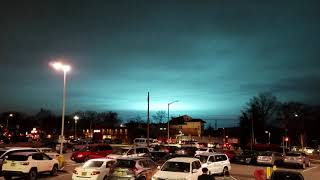 Final seconds of the Blue lights over NYC - possible transformer explosion 12-27-18