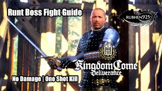 Kingdom Come: Deliverance (PS4) Gameplay - Runt Boss Fight Guide (No Damage | One Shot Kill)