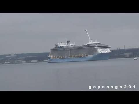 Anthem of the seas leaves halifax for the first time