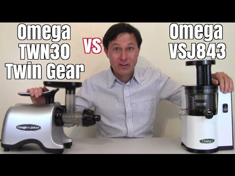 Omega VSJ843 vs Omega TWN30 Twin Gear Juicer Comparison Review