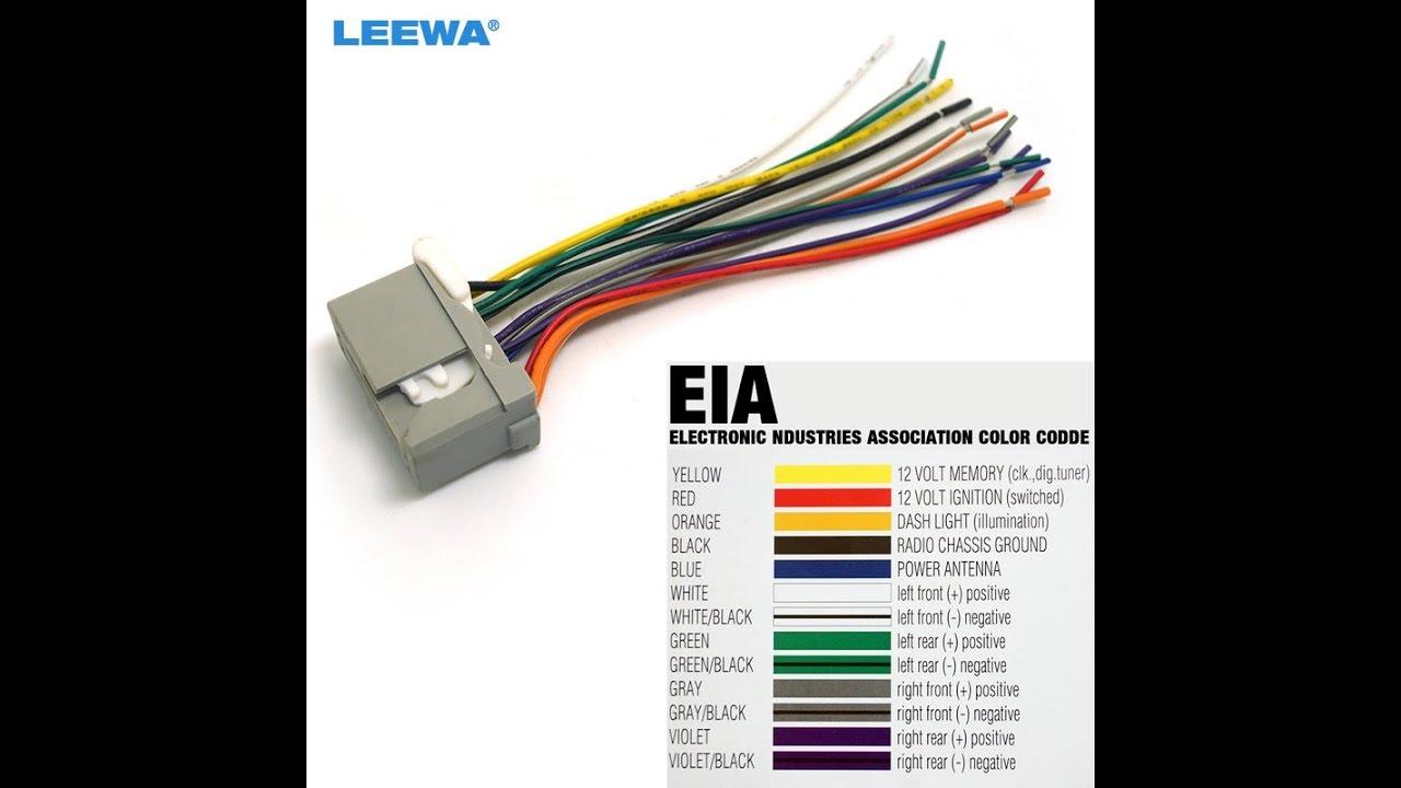Explicacion Detallada De Conexion De Cables De Radio ó