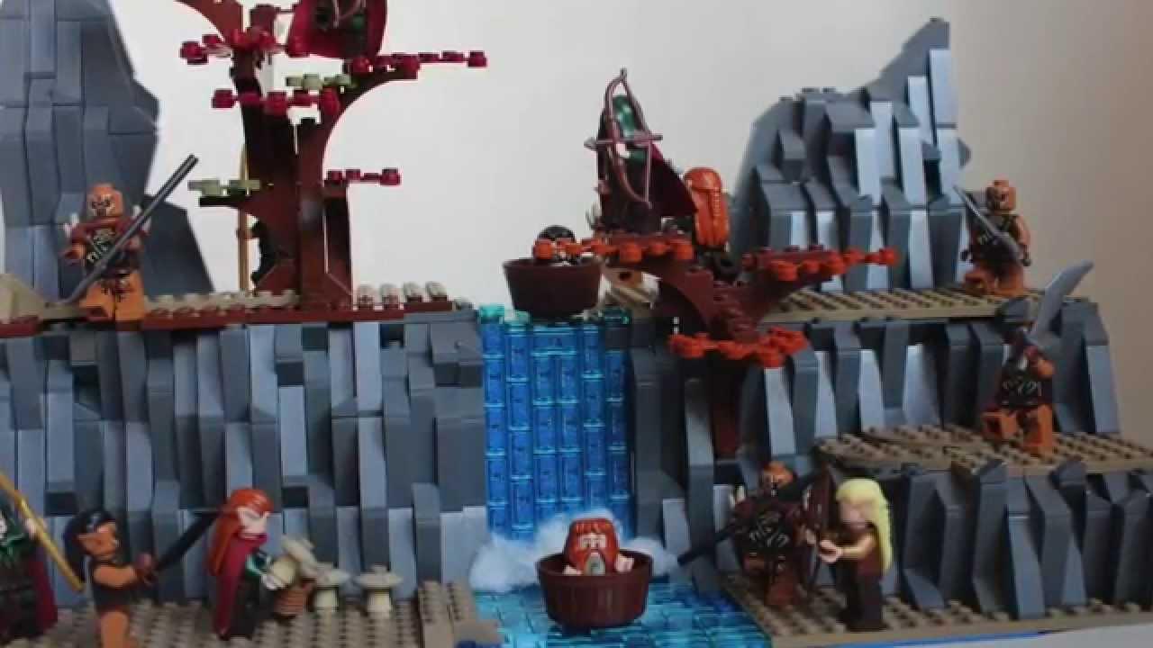 lego hobbit moc-barrel escape - YouTube