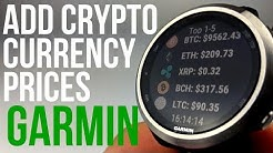 Add Bitcoin Price to Your Garmin watch - Cryptocurrency Live Updates
