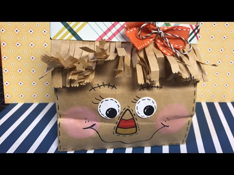 Scarecrow Paper Bag Treat Holder