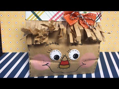 Scarecrow Paper Bag Treat Holder