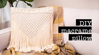 DIY Macrame Pillow (no sew & easy)