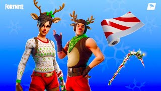 OMG THE NEW BOUTIQUE SKIN OF NOEL ECUMEUSE IN RED NEZ AND SUCRE OF ORGE ON FORTNITE!