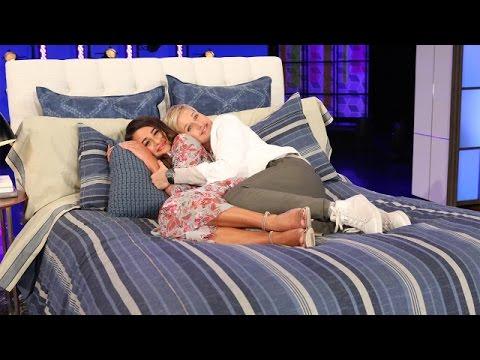 Lea Michele and Ellen Get Between the Sheets
