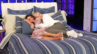 Lea Michele and Ellen Get Between the Sheets
