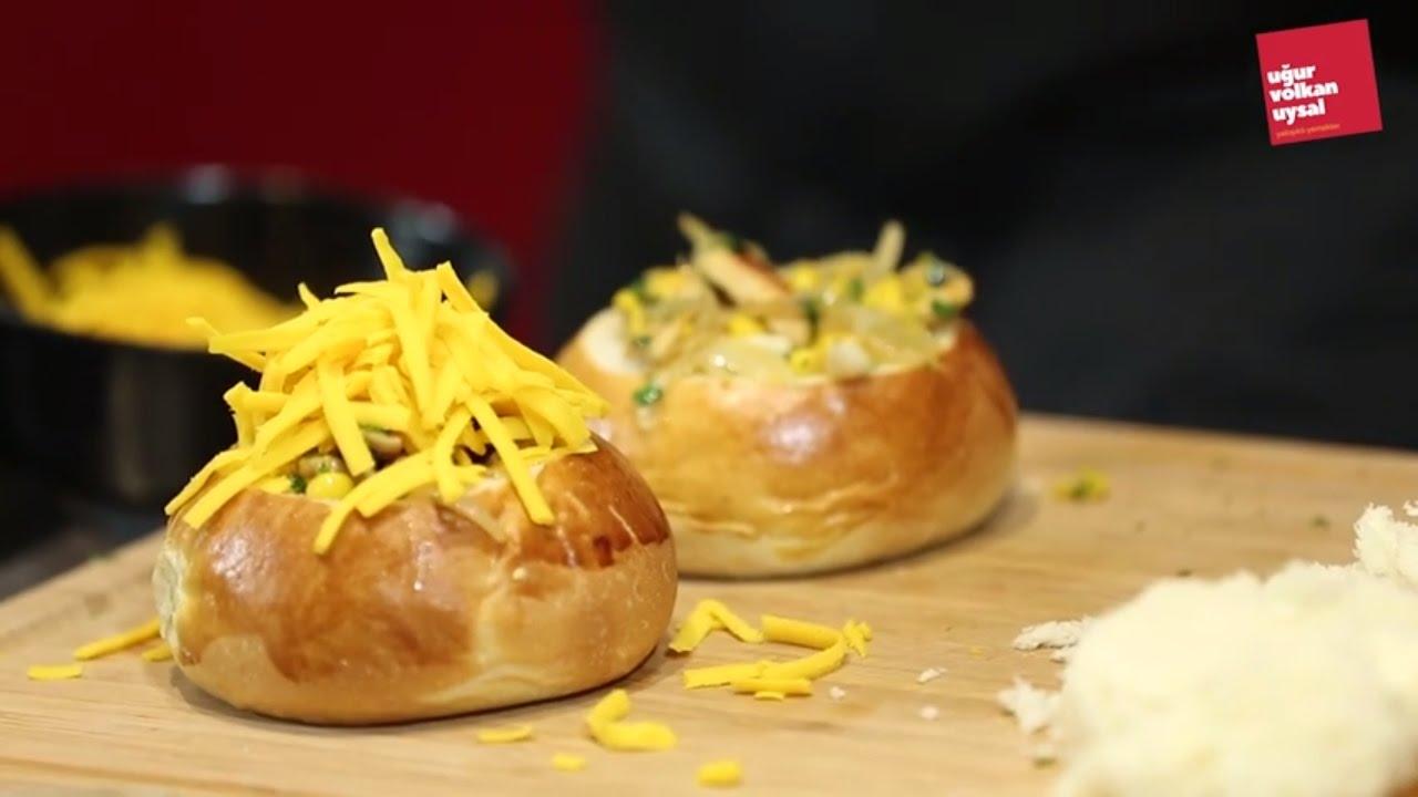 5 Dakikada Cheddarlı Roll Ekmek Nasıl Yapılır (Yemek Tarifleri)