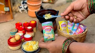 Mini Lays Chips | Homemade Potato Chips | Miniature Cooking | The Tiny Foods - Hindi