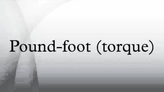 Pound foot (torque) HD