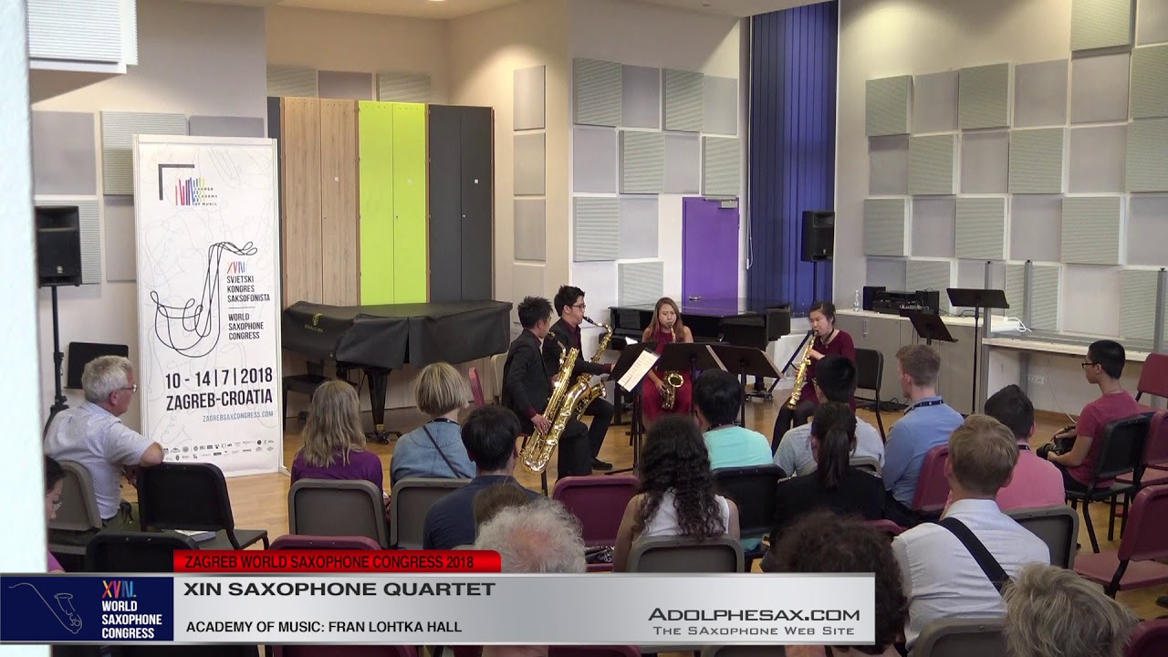 Transit Sketches II by Jay Ong   Xin Saxophone Quartet   XVIII World Sax Congress 2018 #adolphesax