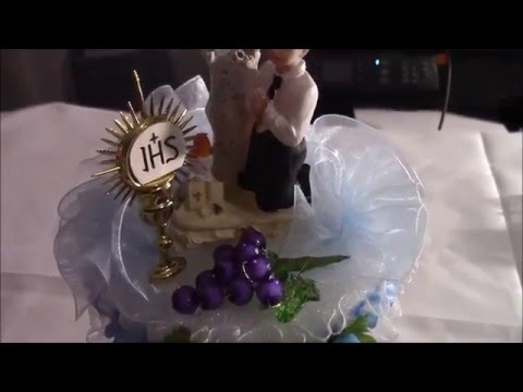 Centro de mesa para primera comunion o confirmacion youtube - Centros de mesa para comunion ...