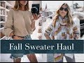 Fall Sweater Haul + Try On | Mango, Everlane, Lovers + Friends