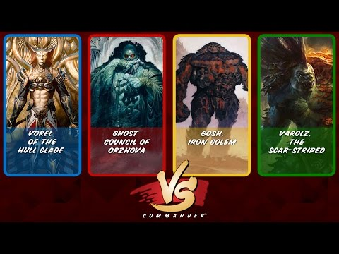 Commander VS S6E1: Vorel Vs Ghost Council Of Orzhova Vs Bosh Vs Varolz [MTG]