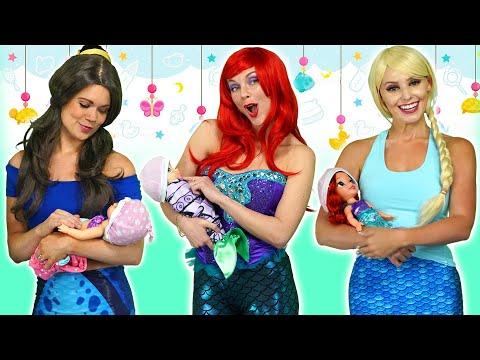 DISNEY PRINCESS BABIES? Ariel, Rapunzel Belle, Jasmine, Elsa and Anna Get their Fortunes. Totally TV