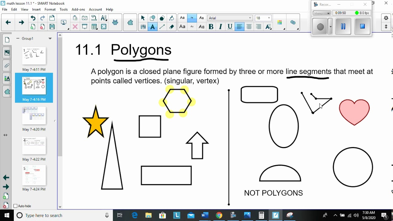 Math Lesson 11.1 Polygons - YouTube