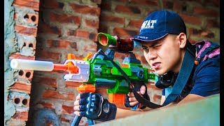 LTT Nerf War : Captain SEAL X Warriors Nerf Guns Attack Criminal Group Nerf Mod Elite Stryfe