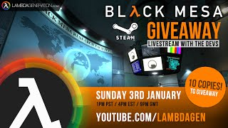Black Mesa Livestream with the Crowbar Collective Developers