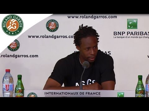 Press conference G.Monfils 2014 French Open R3