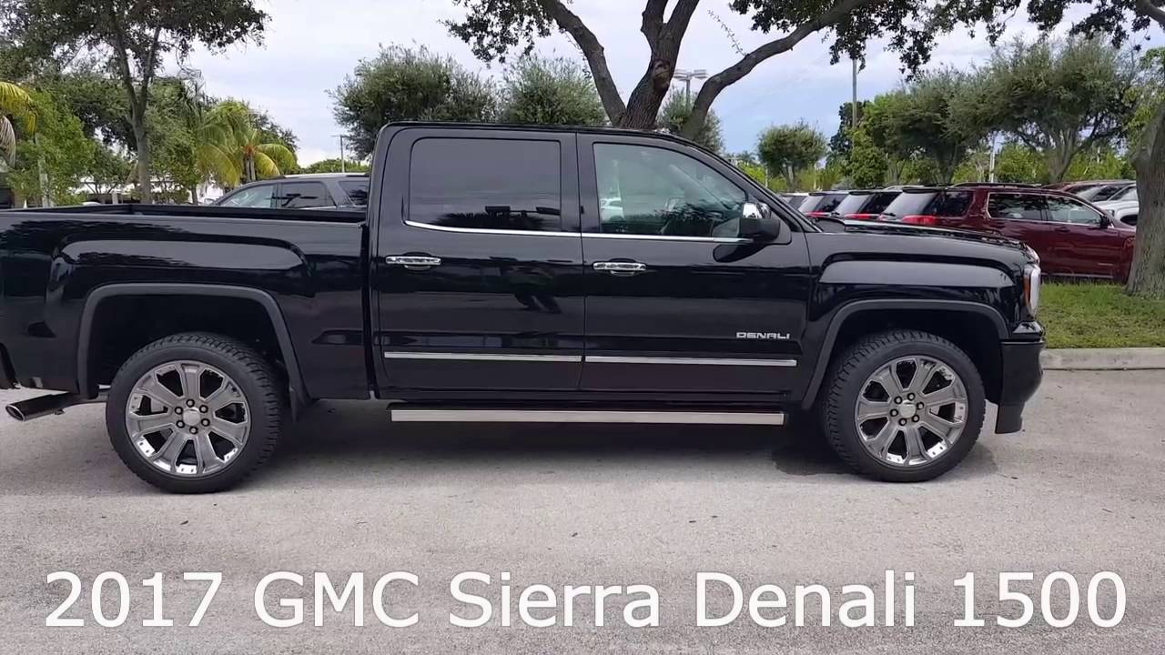 2017 gmc sierra denali 1500 crew cab youtube. Black Bedroom Furniture Sets. Home Design Ideas