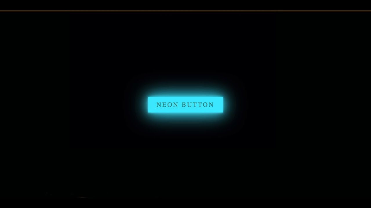Neon Light Button Hover Effect | HTML & CSS